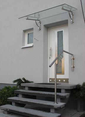 v v distribution edelstahl nach ma vordach und kleine berdachungen vordach 8. Black Bedroom Furniture Sets. Home Design Ideas