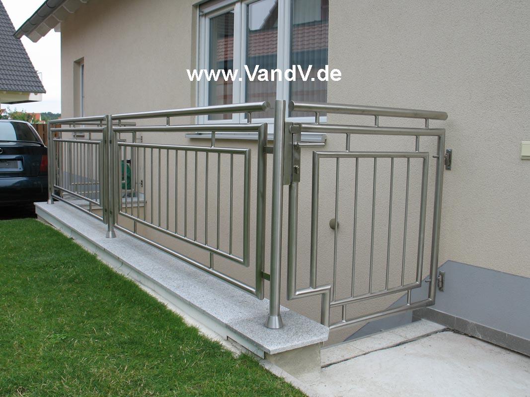 V&V Distribution Edelstahl nach Maß Zäune Geländer
