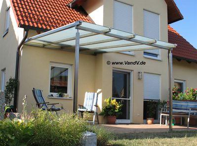 v v distribution edelstahl nach ma carports terrassen. Black Bedroom Furniture Sets. Home Design Ideas