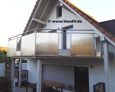 balkon und terrassen gel nder edelstahl balkon gel nder nr 76 teilweise mit edelstahl. Black Bedroom Furniture Sets. Home Design Ideas