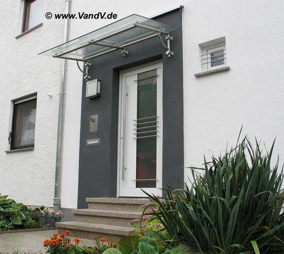 v v distribution edelstahl nach ma vordach und kleine berdachungen edelstahlvordach 62. Black Bedroom Furniture Sets. Home Design Ideas