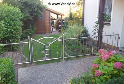 Edelstahl Gartenzaun zäune, geländer, absperrungen und barrieren - edelstahlzaunanlage nr